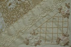 """Ivory Blush Roses: """"Crazy Quilting"""""""