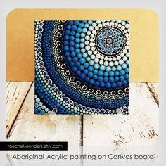 Punto arte aborigen pintura de Arte Original de por RaechelSaunders