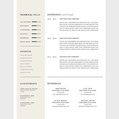 resume template cover letter template for word diy printable 3 pack interior designer modern and creative design