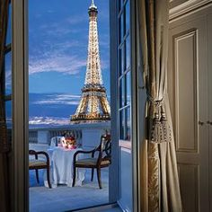 No. 37 Paris At the Shangri-La Hotel, half the 81 rooms have Eiffel Tower views, and nearly that many (although none at entry-level rates) feature private terraces or balconies. From: World's Most Romantic Hotels >