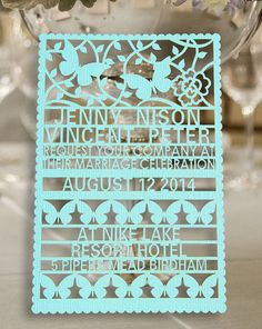 Hey, I found this really awesome invitation on Etsy listing at http://www.etsy.com/listing/162232435/100pcs-customer-laser-cut-wedding
