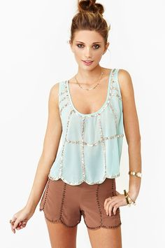 Sequin Scallop Tank - Nasty Gal Fashion