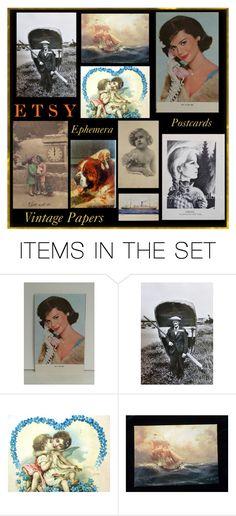 Vintage Paper by muskrosevintage on Polyvore featuring art and vintage #paperephemera