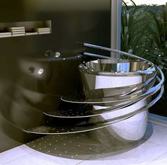 Stainless Steel Electronic Bathtub by Wild Terrain Designs