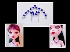 Doll Jewelry 17 Inch Doll Triangular Blue by CuteWeirdFluffy