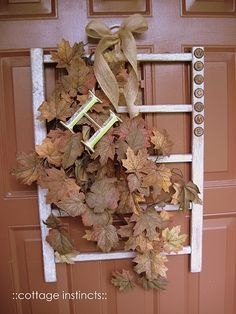 Fall door decor Holiday Themes, Holiday Decor, Old Cribs, Arrow Decor, Fall Door Decorations, Fall Diy, Front Door Decor, Fall Wreaths, Autumn Inspiration
