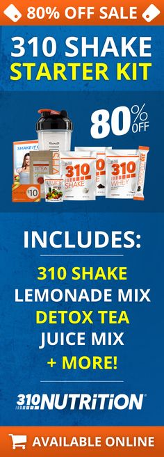 Get 80% Off The Most Affordable Starter Kit from 310 Nutrition!
