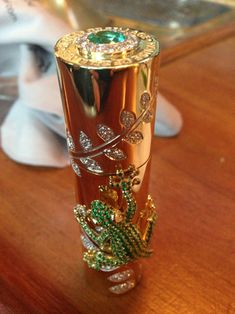 LUXURY ITEM. Perfume Bottle, valued at $118,000. House of Sillage one-of-a-kind perfume bottle -- bedecked with 665 emeralds and diamonds!