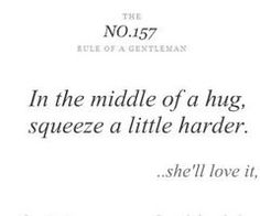Squeeze a little harder w/ hugs