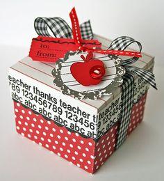 Teacher gift box  http://thecuttingcafe.typepad.com/cutting_cafe_blog/2012/04/tuesdays-random-projecta-little-special-also.html    Kay Sibley