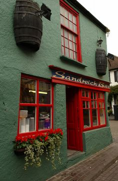 Colourful Irish shop front