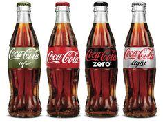Aantal voorbeelden van cola flesjes