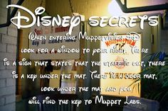 Hey everyone wanna know some Disney Park secrets? Well some of you may know or not know but help me by sharing them. So people going on future trips can look for them. This one is for Walt Disney World. Thanks and Have a Magical Day! Taken in Hollywood Studios.