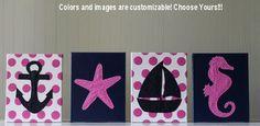 Baby girl nautical wall art!!! for evelyn