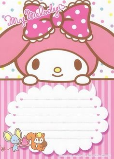 Writing Papers My Melody Wallpaper, Sanrio Wallpaper, Little Twin Stars, Sanrio Characters, Cute Characters, Envelopes, Hello Kitty My Melody, Doll House Crafts, Kitty Images