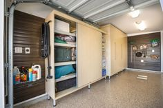 Garage Storage Ideas Plus Man Caves Another Side The Large Sized Rectangular Maple Melamine Cabinet With