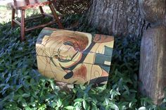 Tabletop Chest Abstract Art by AntiquesandVaria on Etsy, $46.20
