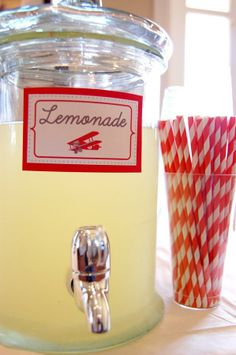 lemonade straws and lable