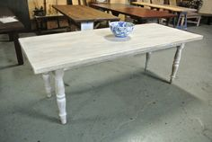 This listing highlights our White Washed Reclaimed Wood Farm Table with Matching Wooden Legs. Please be sure to browse through the different photos and other listings in our shop to get an idea for the variety of options we offer. All of our tables are custom made-- let us build a table to suit your needs!  The Lorimer Workshop makes custom, New England-made rustic farm tables. We have a variety of wood options from old weathered pine, old oak, walnut, cherry, ash, maple and hickory. All of…