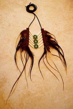 Burning Man Warrior Spirit Bone Feather Leather Necklace