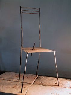 *** CONTEMPORARY ITALIAN SCULPTURE *** A Chair for short Visits.