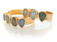 •PEPPINA•WRIST•  BLUE/GREY DRUZY QUARTZ CUFFS  Item No.: C03  http://shop.peppina.com/products/357/    •ABOUT•US•  Peppina Jewelry incorporates everything into our necklaces, bracelets, rings and earrings from semiprecious gemstones and 22-karat gold to rose gold, rhodium, sterling silver and more!    •VISIT•US•ONLINE  www.peppina.com  www.twitter.com/peppinajewelry  www.pinterest.com/peppinajewelry  www.facebook.com/peppinajewelry
