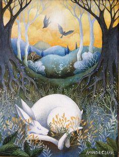 Time to Awaken - original acrylic painting on canvas by Amanda Clark