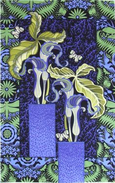 Broderie perse quilt by Jane Sassaman:  Jack-in-the-pulpit flowers