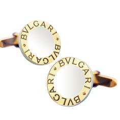 Bvlgari Bulgari 18K Two Tone Gold Cufflinks