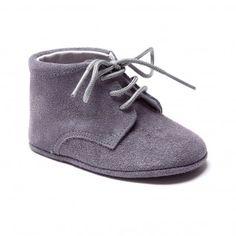 Pram booties suede grey