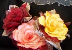 Roses From Coffee Filters