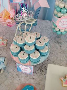 Clock cookies at a Cinderella birthday party! See more party planning ideas at CatchMyParty.com!