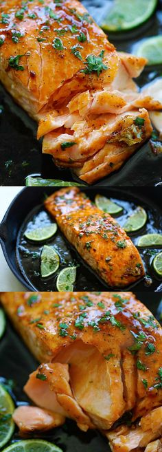 Honey Lime Salmon – Sweet and zesty salmon with honey, lime juice and soy sauce. Takes 15 mins and great for tonight's dinner.