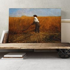 'The Veteran in a New Field' by Winslow Homer Painting Print on Canvas Big Box Art Size: H x W Frames On Wall, Framed Wall Art, Winslow Homer Paintings, Canvas Art, Canvas Prints, London Skyline, Leonid Afremov Paintings, Superior Quality, Box Art