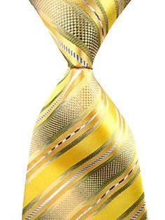 Men's Handmade Jacquard Woven Silk Classic Gold Striped Suits Tie Necktie  http://www.yourneckties.com/mens-handmade-jacquard-woven-silk-classic-gold-striped-suits-tie-necktie-2/