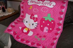 Hello Kitty Baby girl quilt by COLORFULSSB on Etsy, $32.00