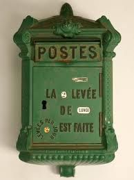 Vintage French mailbox