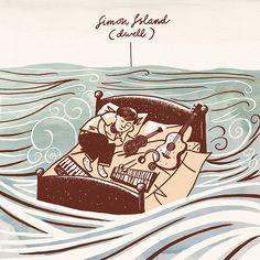 Simon Island - Dwell, ukulele etc. Ukulele Instrument, Ukulele Art, Illustration Art, Illustrations, Moonlight, Tatoos, Printing, Joy, Island