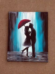 Cute, romantic way of showing part of how much you love your partner through a painting.