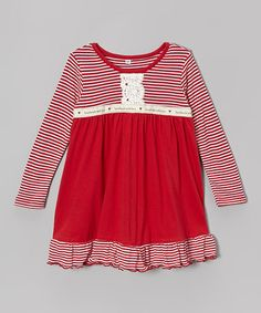 Another great find on #zulily! Red Ruffle Babydoll Dress - Infant & Toddler by Toni Tierney #zulilyfinds