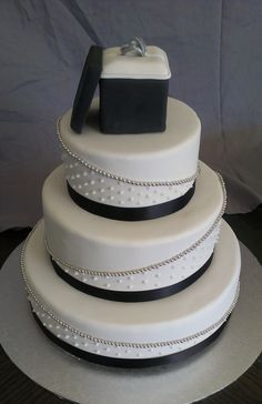 Engagement Ring Box Cake   ... to http://www.cakecentral.com/gallery/i/2844503/engagement-ring-box