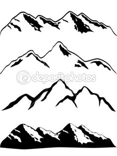 my simple mountain range tattoo could be enhanced slightly by adding line depth . - my simple mountain range tattoo could be enhanced slightly by adding line depth like the one do - Mountain Outline, Mountain Silhouette, Mountain High, Snow Mountain, Mountain Background, Mountain Sketch, Mountain Images, Mountain Designs, Berg Illustration