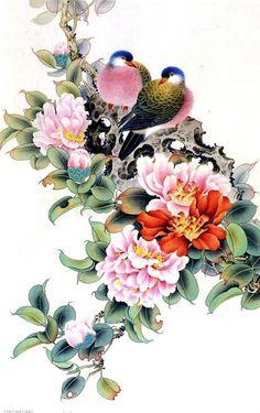 Клипарт – Цветы из китайской живописи (73 фото)
