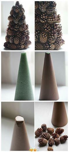 Decoraciones decembrinas para esta #NavidadRifel - - Decorating With Pinecones