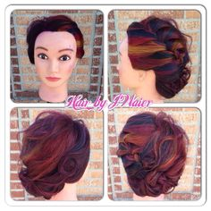 """Played with a new technique! Braided it so you could see the color placement! I call it the """"tilt -a- whirl""""!"""