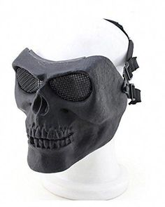 YX Metallic Mask For Bicycling Halloween Skull Skeleton Airsoft Paintball BB Gun A Full Face Protection Mask Shot Helmets *** You can find out more details at the link of the image. (This is an affiliate link) Tactical Helmet, Airsoft Helmet, Beautiful Sunrise, Halloween Skull, Paintball, Full Face, Skeleton, Guns, Bicycling
