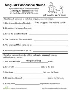 Printables Singular Possessive Nouns Worksheet worksheets singular possessive nouns laurenpsyk free grammar and on pinterest great best stuff