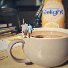 Miniature Office: Der kreative Umgang mit seiner Langeweile im Büroalltag hat Derrick Lin aus Ohio weltweit bekannt gemacht.