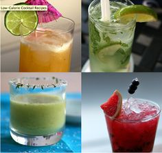 Summer cocktails under 200 calories! Yummy drinks that won't make me fat?? Sign me up...