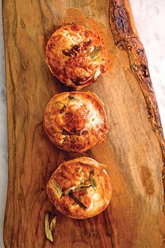 ... lemon pancake soufflés and wild leek and smoked bacon popovers